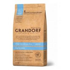 Grandorf White Fish & Rice All Breeds сухой корм для взрослых собак всех пород с белой рыбой и рисом 12 кг