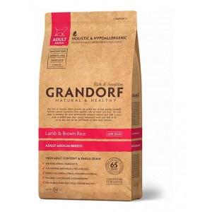 Grandorf Adult Medium Breed сухой корм для взрослых собак средних пород с ягненком и бурым рисом 12 кг