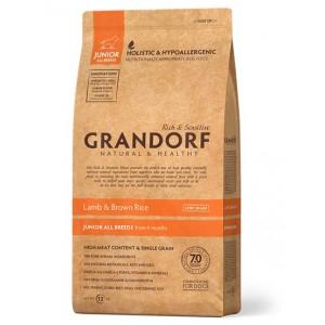 Grandorf Junior сухой корм для юниоров всех пород от 4 месяцев с ягненком и бурым рисом 1 кг