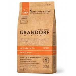 Grandorf Junior сухой корм для юниоров всех пород от 4 месяцев с ягненком и бурым рисом 3 кг
