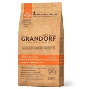 Grandorf Junior сухой корм для юниоров всех пород от 4 месяцев с ягненком и бурым рисом 12 кг