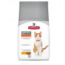 Hills SP Felinе Young Adult Sterilised Cat лечебный корм для контроля веса у кастрированных котов и стерилизованных кошек с тунцом 1,5 кг