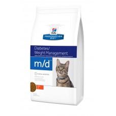 Hills PD Feline M/D лечебный корм для кошек с сахарным диабетом или избыточным весом 1,5 кг