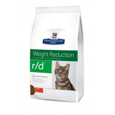 Hills PD Feline R/D лечебный корм для кошек при избыточном весе 1,5 кг