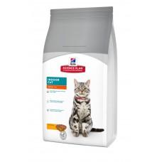 Hills SP Feline Adult Indoor Cat сухой корм для кошек живущих преимущественно в помещении с курицей 1,5 кг