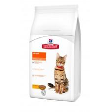 Hills SP Feline Adult Optimal Care сухой корм для поддержания физической формы кошек с курицей 15 кг