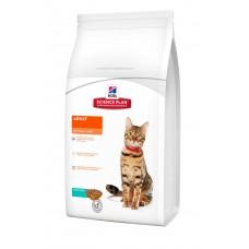 Hills SP Feline Adult Optimal Care сухой корм для поддержания физической формы кошек с тунцом 0,4 кг