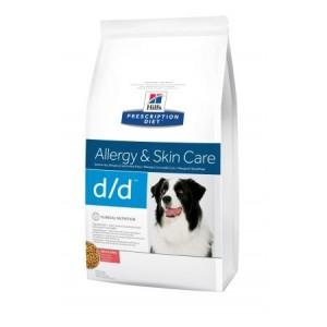 Hills PD Canine D/D лечебный корм для взрослых собак страдающих заболеваниями кожи с лососем и рисом 2 кг