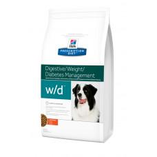 Hills PD Canine W/D лечебный корм для предотвращения возникновения ожирения, сахарного диабета у собак с курицей 12 кг