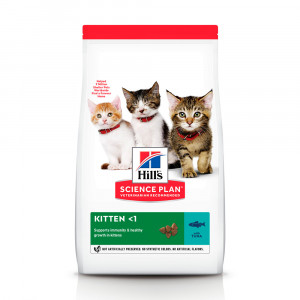 Hills SP Kitten Healthy Development сухий корм для підтримки імунітету і здоров'я травлення у кошенят з тунцем 1,5 кг