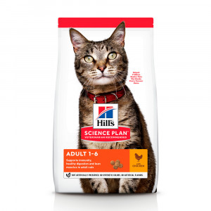 Hills SP Feline Adult Optimal Care сухий корм для підтримки фізичної форми котів з куркою 15 кг