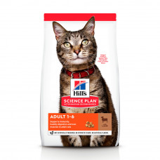 Hills SP Feline Adult Optimal Care сухой корм для поддержания физической формы кошек с ягненком 0,3 кг