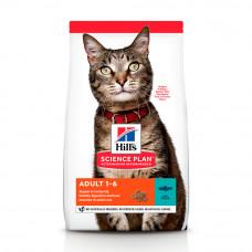 Hills SP Feline Adult Optimal Care сухой корм для поддержания физической формы кошек с тунцом 0,3 кг