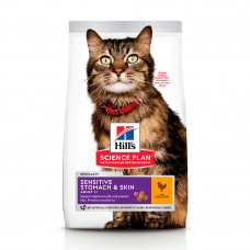 Hill's SP Adult Sensitive Stomach & Skin для котів з чутливим травленням і шкірою 1,5 кг