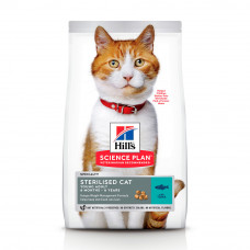 Hills SP Felinе Young Adult Sterilised Cat лечебный корм для контроля веса у кастрированных котов и стерилизованных кошек с тунцом 0,3 кг