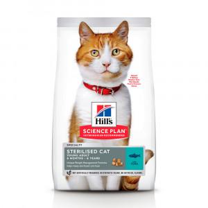 Hills SP Felinе Young Adult Sterilised Cat лікувальний корм для контролю ваги у кастрованих котів і стерилізованих котів з тунцем 3,5 кг