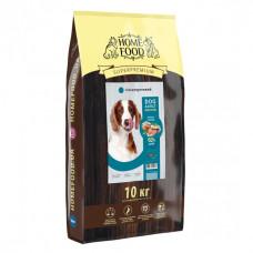Home Food гіпоалергенний сухий корм для дорослих собак середніх порід з фореллю, рисом і овочами 10 кг.