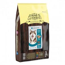 Home Food гіпоалергенний сухий корм для дорослих собак великих порід з фореллю, рисом і овочами 3 кг.