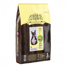 Home Food беззерновой корм для активних, дорослих собак середніх порід з ягням, качкою та яблуком 3 кг.