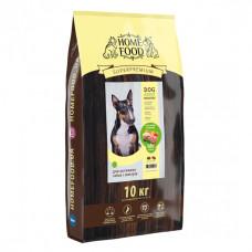 Home Food беззерновой корм для активних, дорослих собак середніх порід з ягням, качкою та яблуком 10 кг.