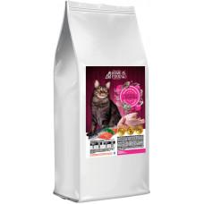 Home Food сухой корм для взрослых котов с лососем и индейкой 0,4 кг.