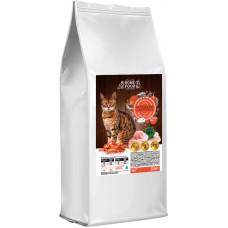 Home Food сухой корм для взрослых котов с креветкой и курицей 10 кг.