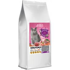 Home Food сухой корм для взрослых котов британской породы с индейкой и телятиной 3 кг.