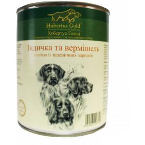 Hubertus Gold консервы для собак с индейкой и вермишелью 0,8 г