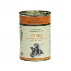 Hubertus Gold консервы для щенков с курицей, картофелем и морковью 0,4 г