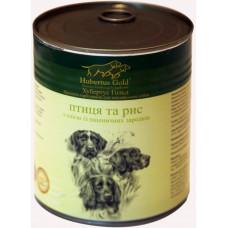 Hubertus Gold консервы для собак с птицей и рисом 0,8 г