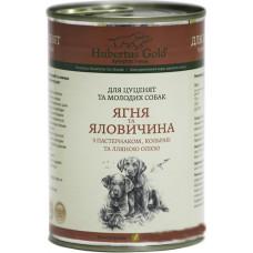 Hubertus Gold консервы для щенков с ягненком и говядиной 0,4 г