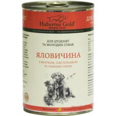 Hubertus Gold консервы для щенков с говядиной, яблоком и пастернаком 0,4 г