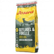 Josera Geflugel and Forelle беззерновой сухой корм для собак с птицей и форелью 15 кг