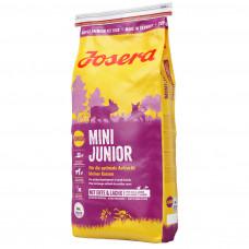 Josera Mini Junior сухой корм для подростающих собак мелких пород с уткой и лососем 0,9 кг