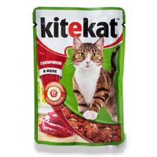 Kitekat (Китикет) консервы для кошек с говядиной 100г