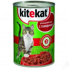 Kitekat (Китикет) консервы для кошек с говядиной 400г