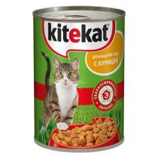 Kitekat (Китикет) консервы для кошек с курицей 400г
