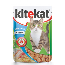Kitekat (Китикет) консервы для кошек с лососем 100г