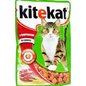 Kitekat (Китикет) консервы для кошек с телятиной 100г