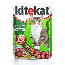 Kitekat (Китикет) консервы для взрослых кошек с ягненком в соусе 100г
