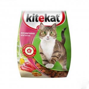 Kitekat (Китикет) сухой корм для кошек говядина аппетитная 400г