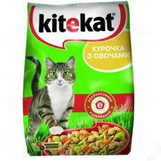 Kitekat (Китикет) сухой корм для кошек курочка с овощами 1 кг