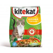 Kitekat (Китикет) сухой корм для кошек курочка с овощами 13кг
