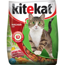 Kitekat (Китикет) сухой корм для кошек мясной пир 1кг