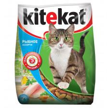 Kitekat (Китикет) сухой корм для кошек рыбное ассорти 400г
