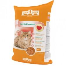 Клуб 4 Лапы Hairball сухой корм для котов 11 кг
