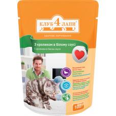 Клуб 4 Лапы консервы для котов с кроликом 0,1 кг