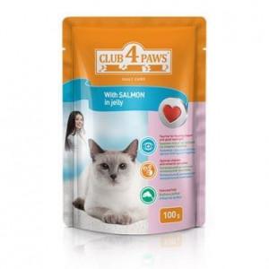 Клуб 4 Лапы консервы для котов с лососем 0,1 кг
