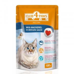 Клуб 4 Лапы Консервы для котов с макрелью 0,1 кг