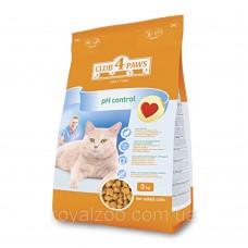 Клуб 4 Лапы PH-Control сухой корм для котов 3 кг